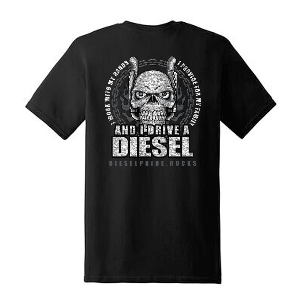 I Drive A Diesel: Black Tee